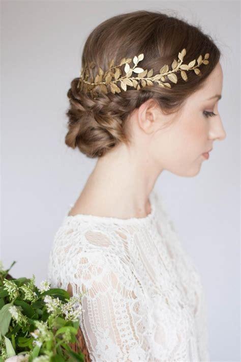 Alena Laurel Leaf Wrap Headpiece, Leaf Circlet, Gold Leaf ...