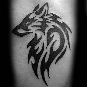 50 Tribal Wolf Tattoo Designs For Men - Canine Ink Ideas