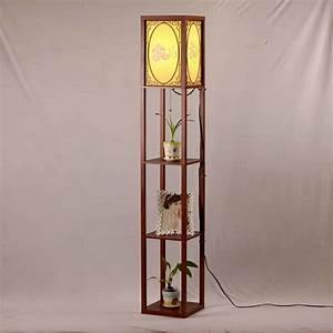 aliexpresscom buy chinese style modern minimalist With floral shelf floor lamp