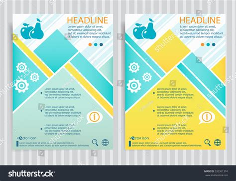 Apple Brochure Template Design And Layout Apple Pear Symbol On Vector Brochure Stock Vector
