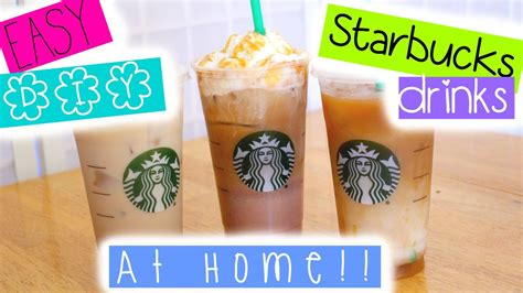 You can head there for a warm breakfast, a tasty lunch, or a sweet treat. EASY DIY Starbucks drinks at HOME! - Coffee Daily Tips