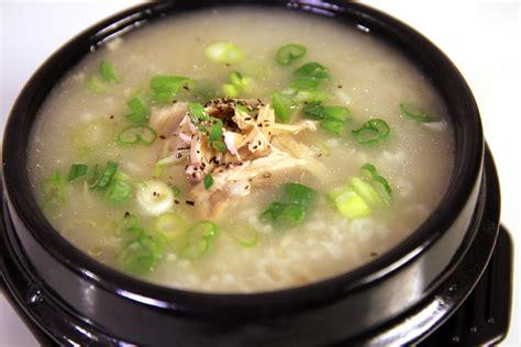 congee recipe chicken and rice porridge dakjuk recipe maangchi com