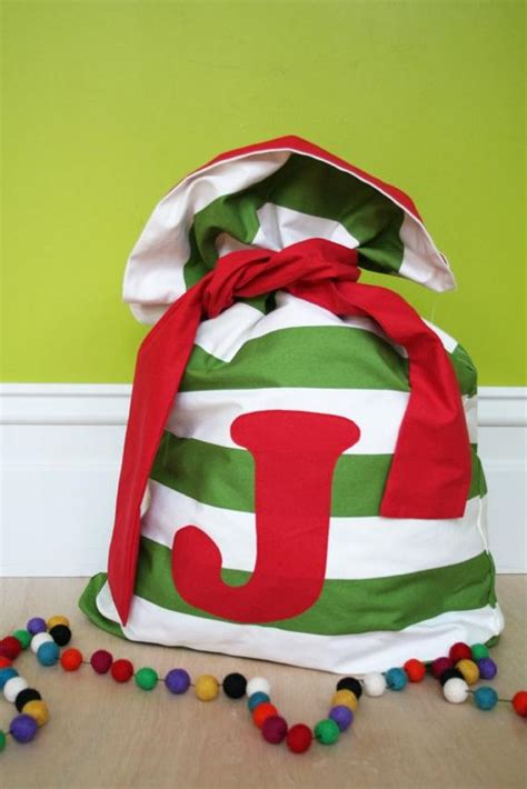 red santa sack for babies pictures santa sack small broad green stripe and trim