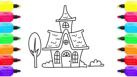 How To Draw Fairy House Coloring Pages