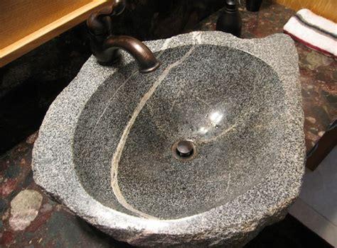unique bathroom natural stone sinks designrulz