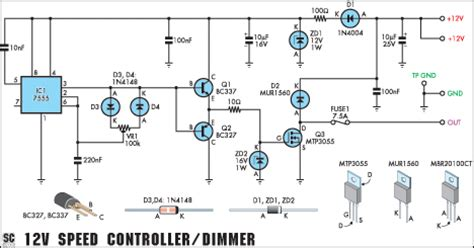 Speed Controller Dimmer Circuit Diagram Instructions