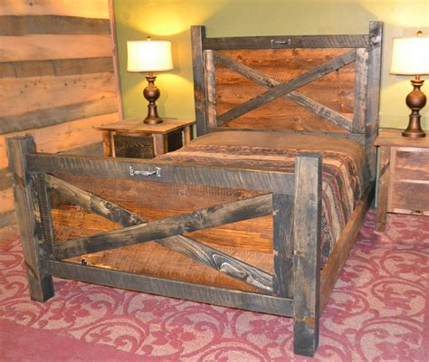 barn door bedroom set barn door bed rustic furniture mall by timber creek 4318