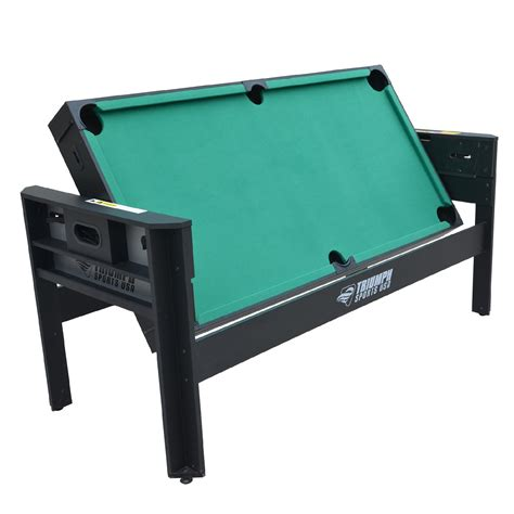 medal sports 4 in 1 table triumph sports usa 6ft 4 in 1 evolution multi game swivel