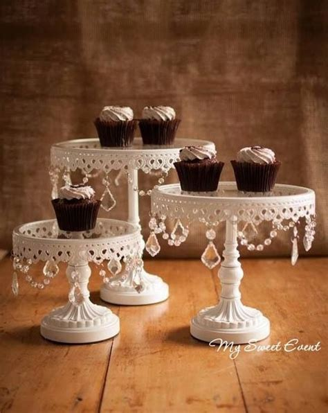 shabby chic cake stand with crystals pin by my sweet event hire on cake stands pinterest