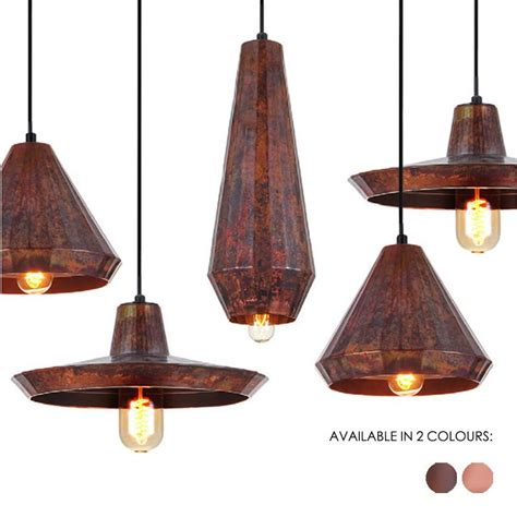 cuprum rustic copper modern pendant light tudo co