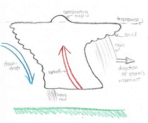 Simple Thunderstorm Diagram by How Thunderstorms Form Eight Crayon Science