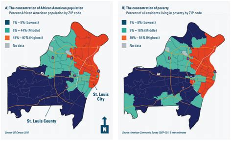 st louis county section 8 map the racial and economic divide in the st louis area