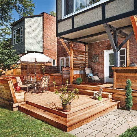 cuisine végé terrasse en bois multifonction patio inspirations