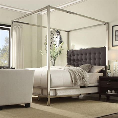 chrome canopy bed canopy beds for every decorating style