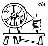 Spinning Wheel Wheels Coloring Template Majacraft Sketch Coming Yarn sketch template