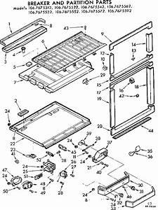 Kenmore 1067675542 Refrigerator Parts