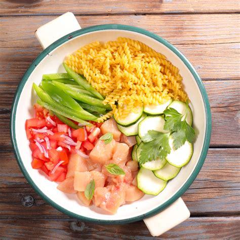 cuisine été recette one pot pasta poulet courgette et tomates marciatack fr