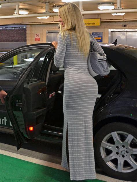 sophie turner hot  tight dress  heathrow airport