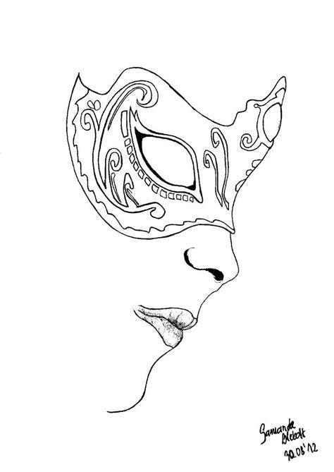 Venetian mask part II lineart by bita-smietana | Mask