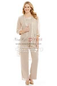 khaki wedding suit chagne chiffon for wedding of the pant suits comfortable plus size