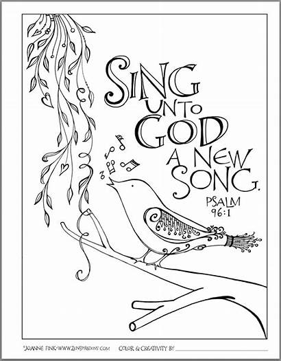 Scripture Song Coloring Pages Bible Zenspirations Doodle