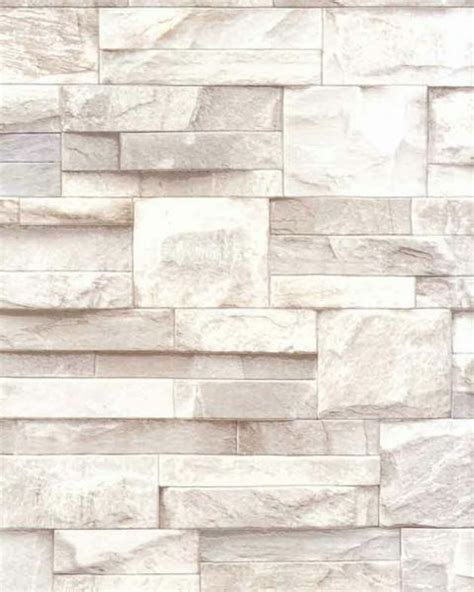 slate stone brick wall  effect textured vinyl wallpaper
