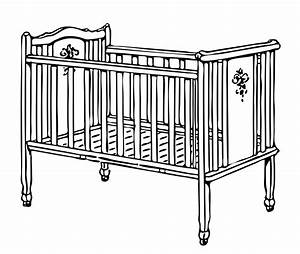 Crib, Cot Illustration Clipart Free Stock Photo - Public ...