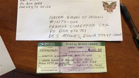 documenting  usps money order     francis