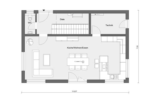 Schmales Haus Grundriss by Schmaler Grundriss E 15 133 6 Schw 246 Rerhaus