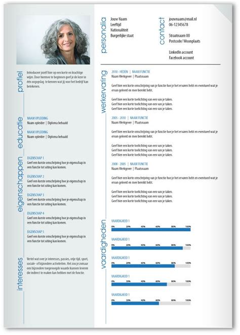 Pimp My Curriculum Vitae by Cv Design 330 Gebruik Dit Cv Ontwerp Om Je Eigen Cv Te