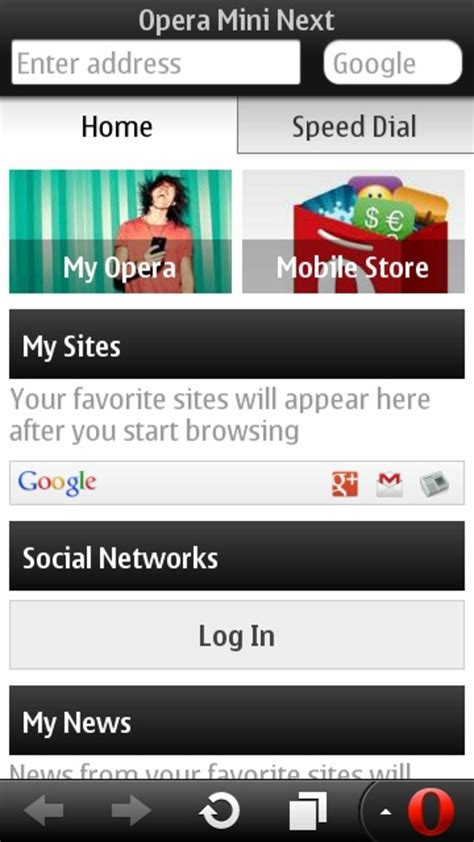 opera mini next for java