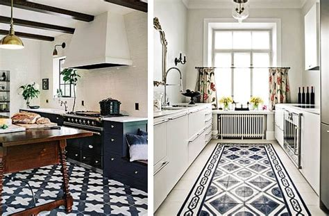 mosaico hidraulico  decorar los suelos de tu cocina