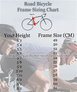 Height Chart For Mountain Bikes Size Road Bicycle Sizing Chart Dead Megaphone