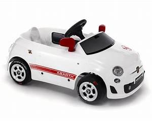 coche a pedales para niños fiat 500 abarth blanco en El