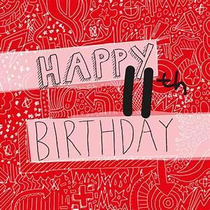happy 11th birthday boy's card by megan claire ...