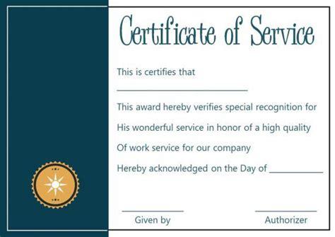 certificate  service   templates word