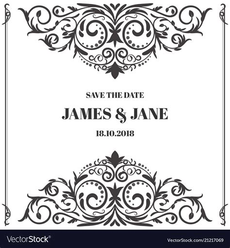 wedding card border design vector png   cliparts