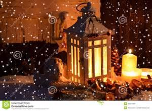 christmas candlelight snow stock photo image of stars 35627684