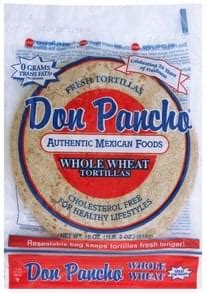 don pancho flour tortillas  nutrition information innit