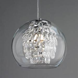 Glass globe crystal pendant light lighting