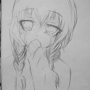 Easy Sad Girl Drawings For Kids Anime Sad Girl Sketch ...
