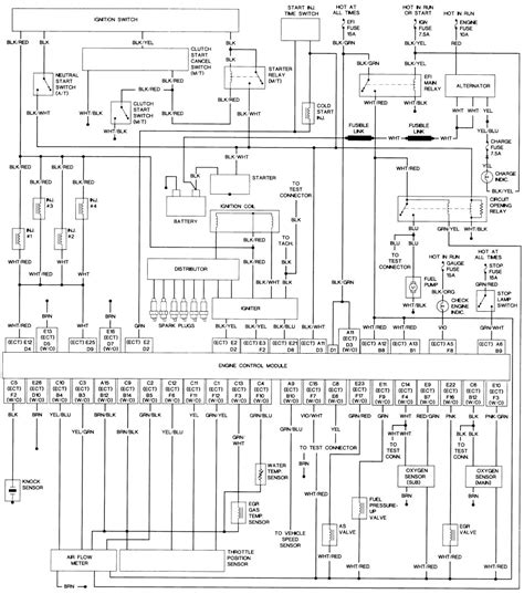 1986 Toyotum Wiring Diagram by 93 22re Wiring Diagram Repair Guides Within 86 Toyota