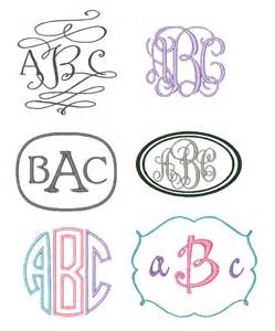 Monogram Embroidery Fonts Downloads