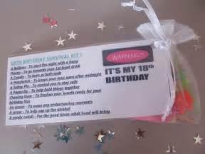 18th Birthday Survival Kit Ideas