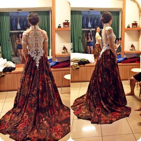 batik wedding dress  gladicious bridestorycom