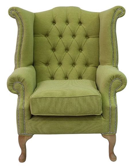 chesterfield high back wing chair verity lime