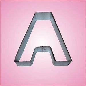 Letter a cookie cutter cheap cookie cutters for Cookie letter press