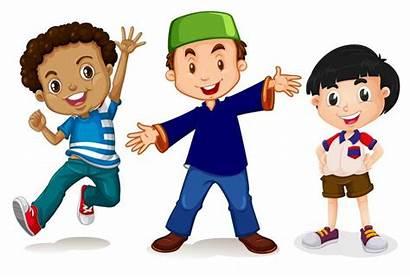 Multicultural Clipart Students Bambini Multiculturali Cartoon Bianco