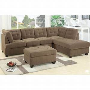 Hollywood decor odessa waffle suede reversible sectional for Odessa waffle suede reversible sectional sofa with ottoman