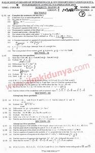 Past Papers 2014 Quetta Board Inter Part 2 Mathematics